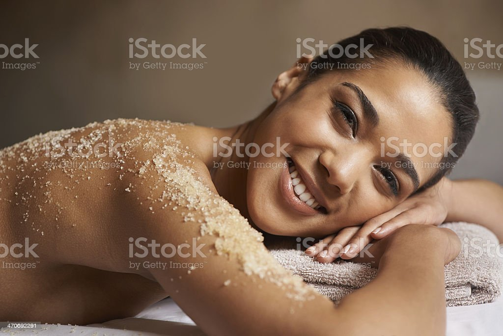 Getting the full beauty package stock photo