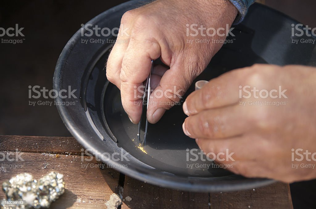 Getting the Gold stock photo