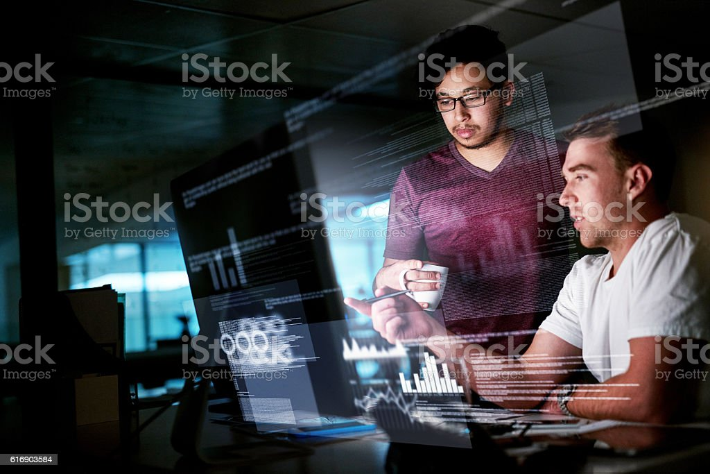 Getting the job done stock photo