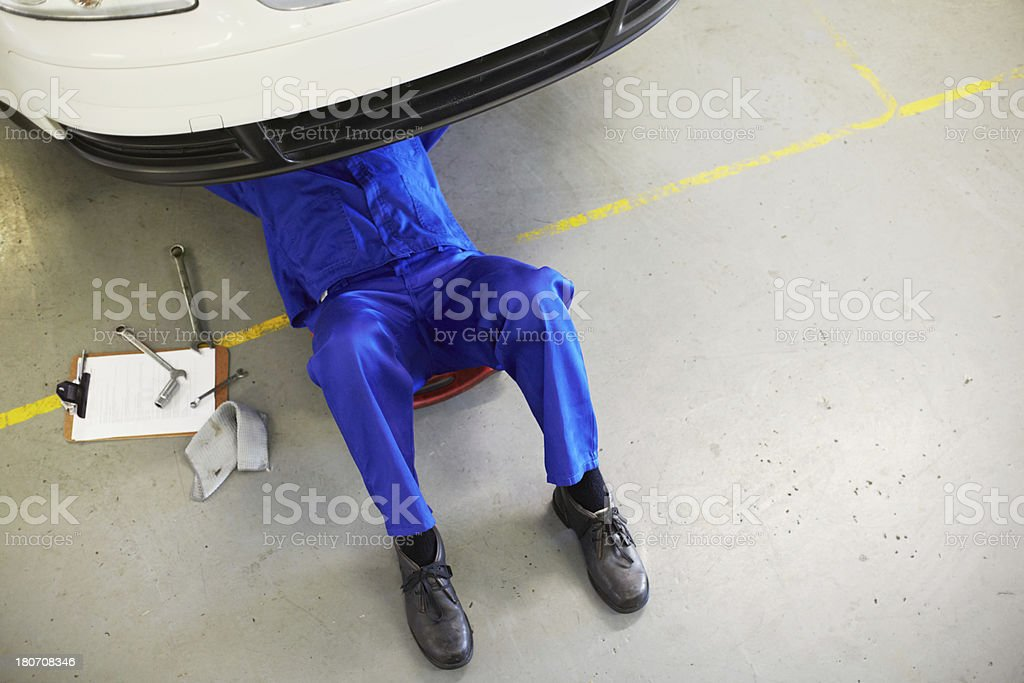Getting the job done right stock photo