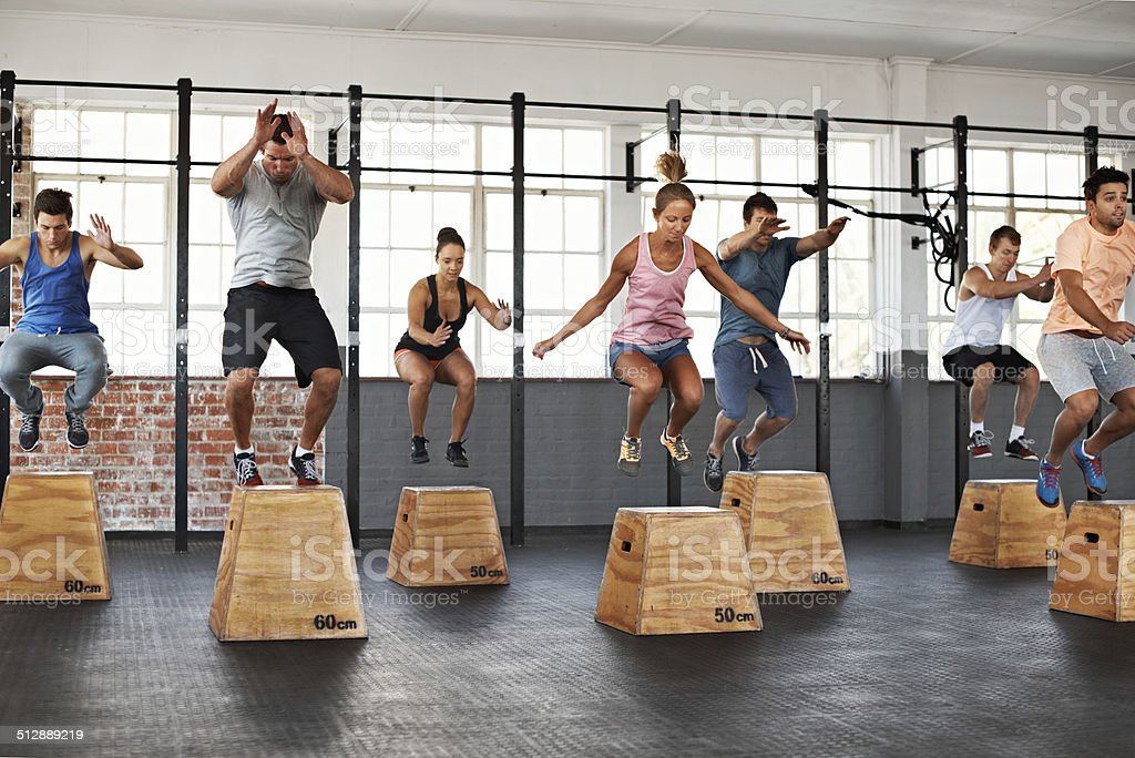 Getting the jump on fitness stock photo