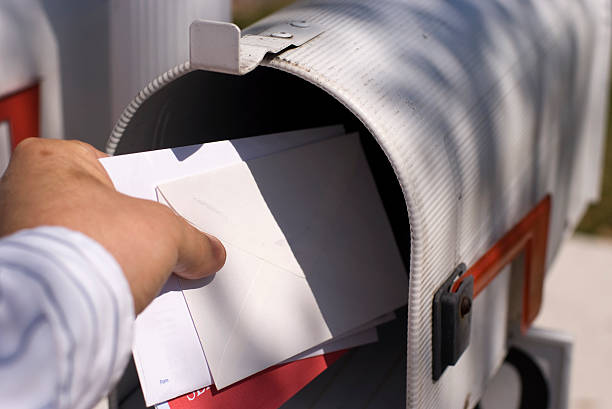 getting the mail - mail stock photos and pictures