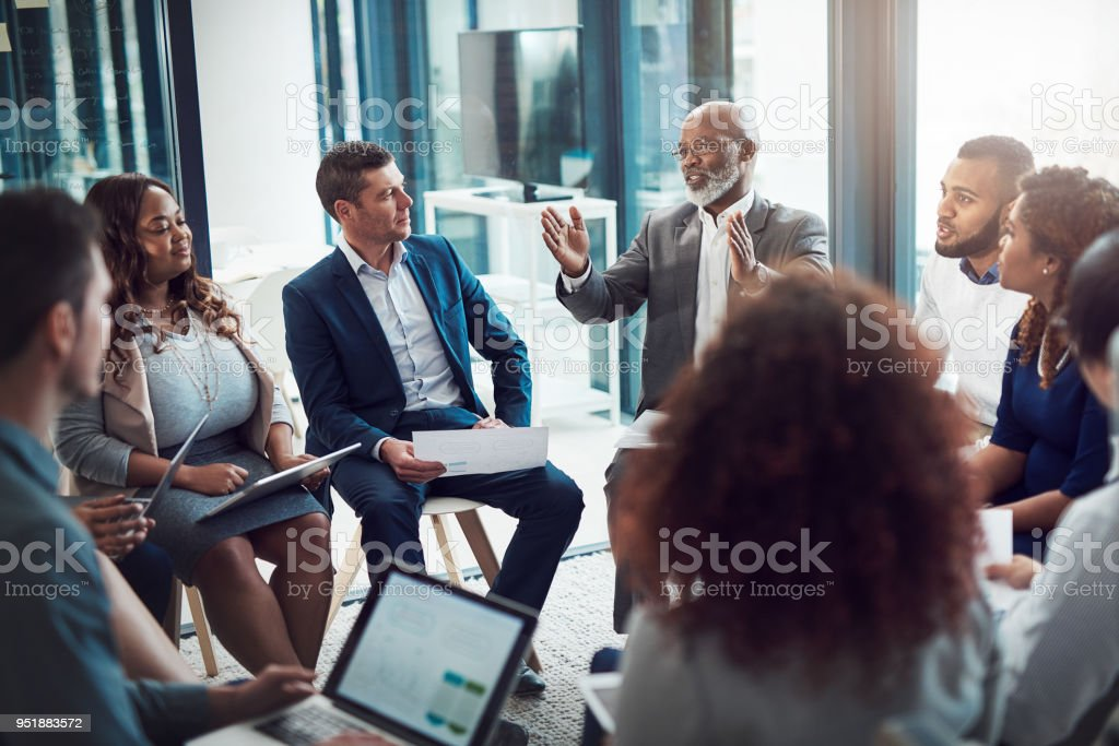 Getting the planning phase started stock photo