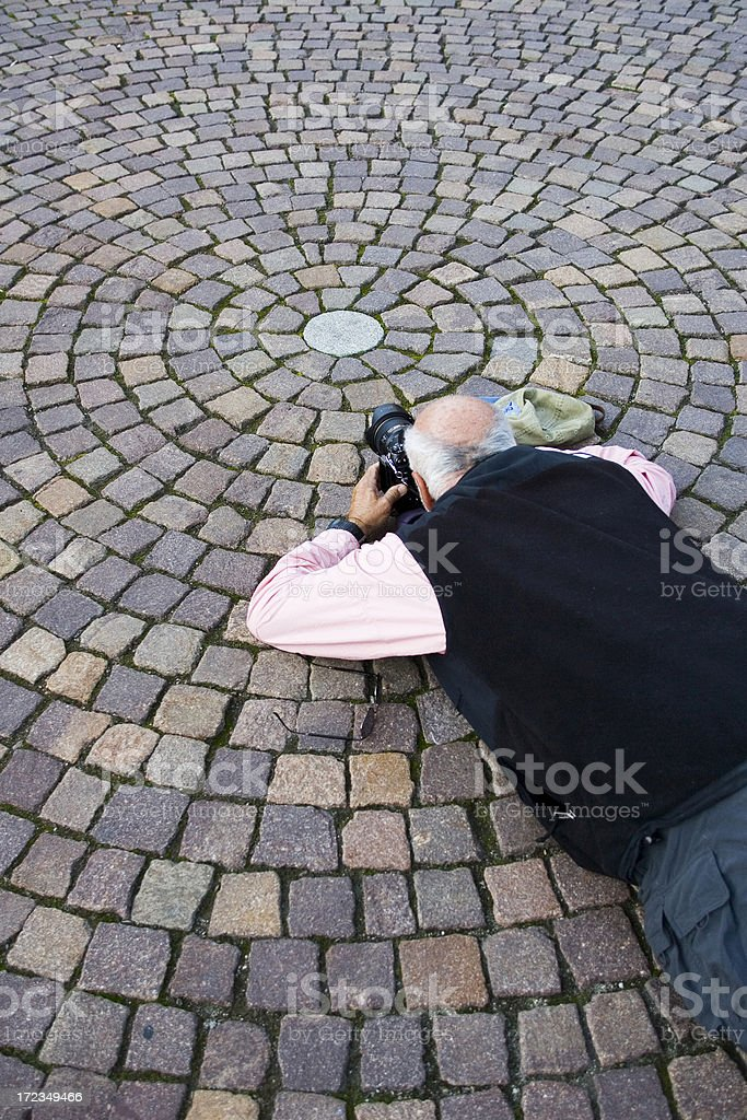 Getting the Shot royalty-free stock photo