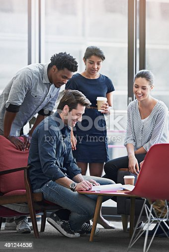 491244494 istock photo Getting the team motivated 491244536