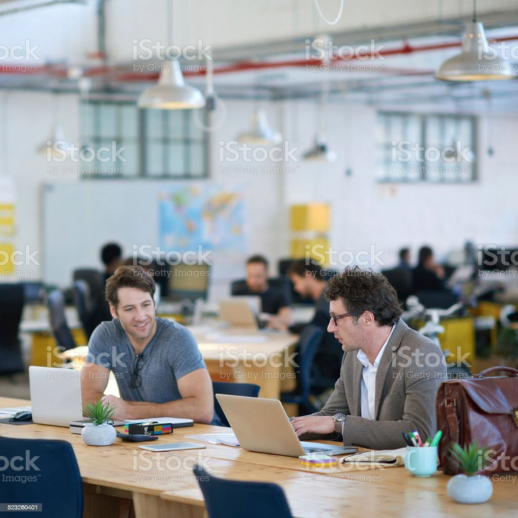 Getting their creativity revved up stock photo