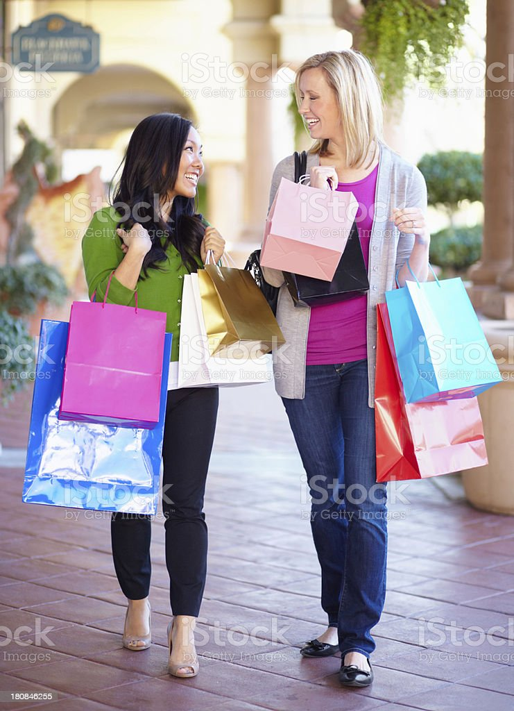 Getting their retail fix royalty-free stock photo