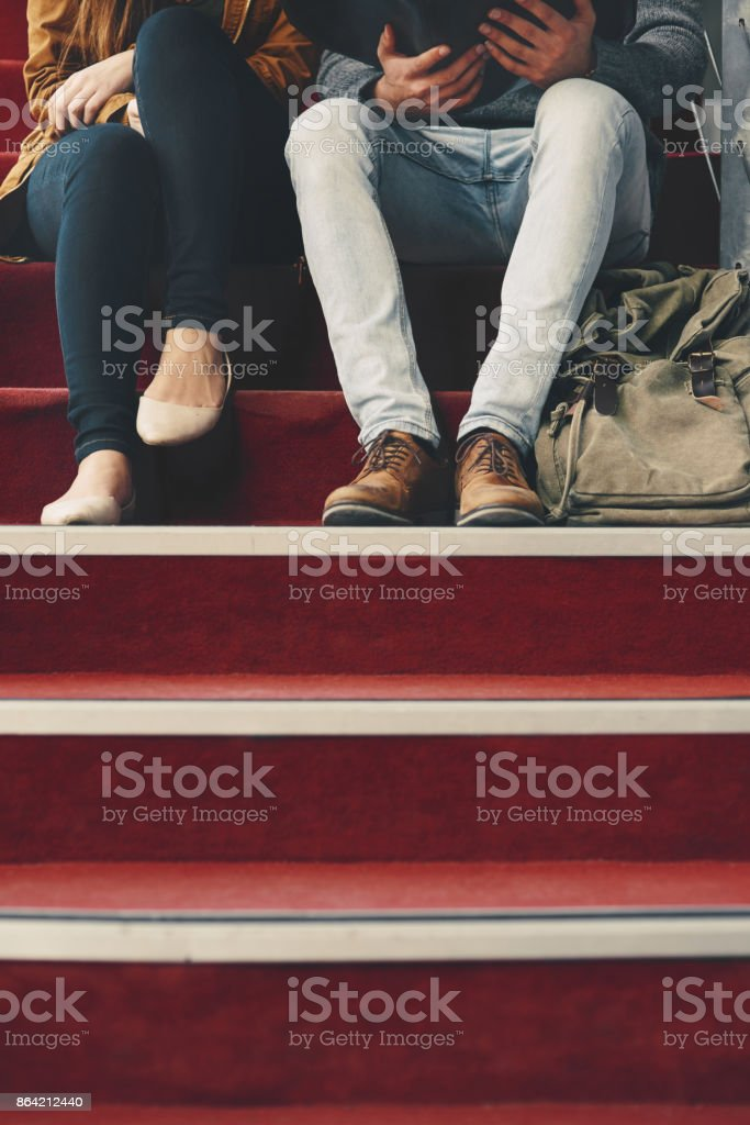 Getting their study on royalty-free stock photo
