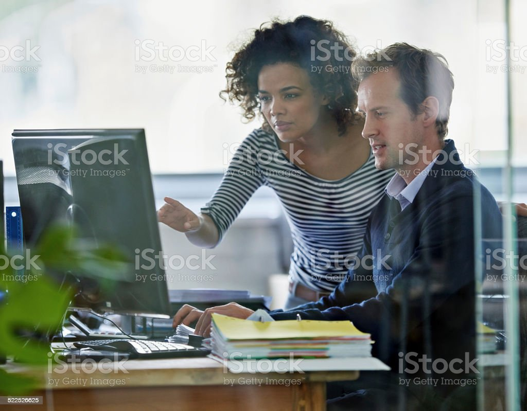 Getting their work done stock photo