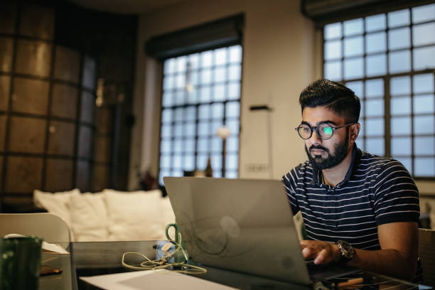 Getting things done from the comfort of home stock photo