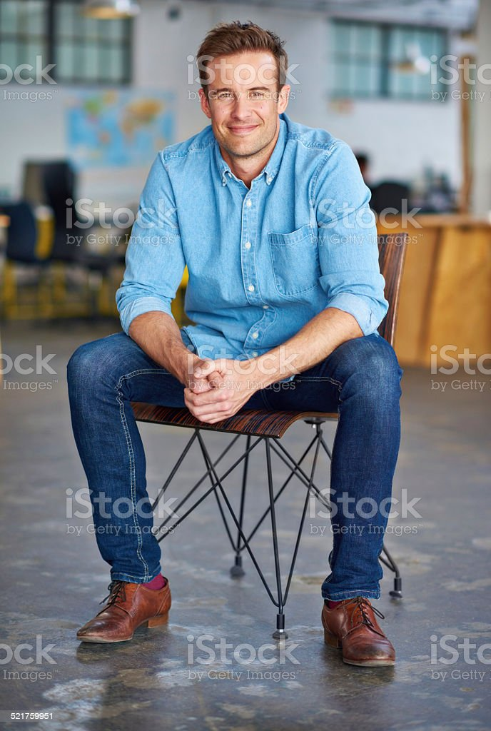 Getting this position was the best opportunity ever stock photo