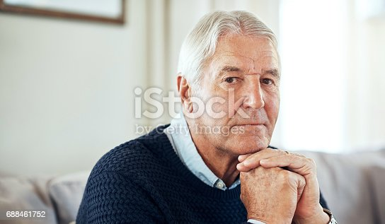 Portrait of a senior man relaxing at home