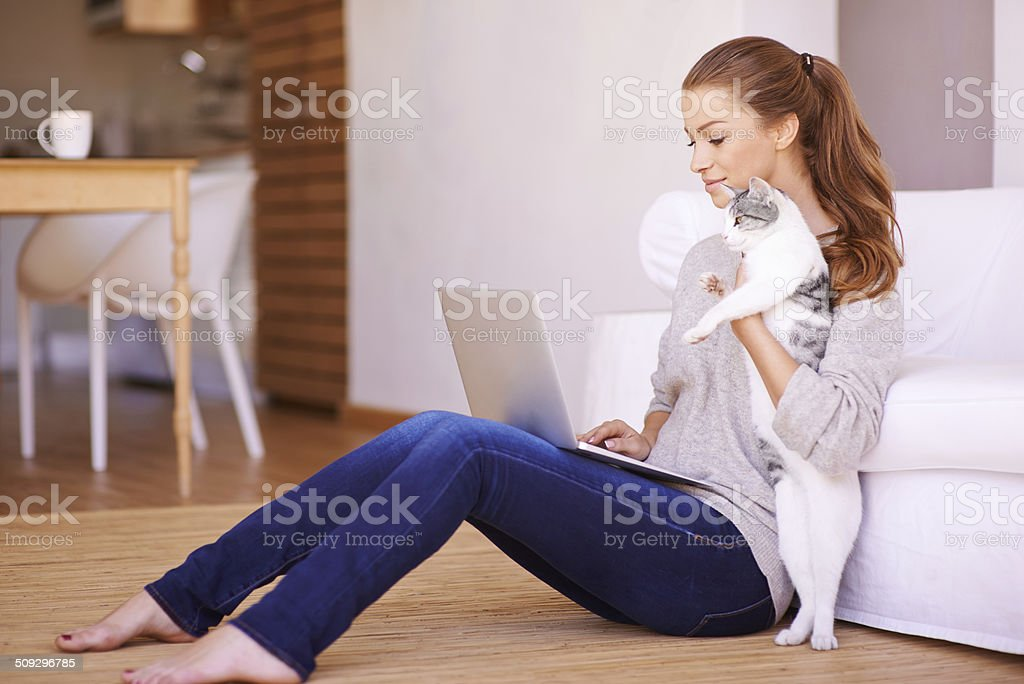 Getting tips from her financial advisor stock photo