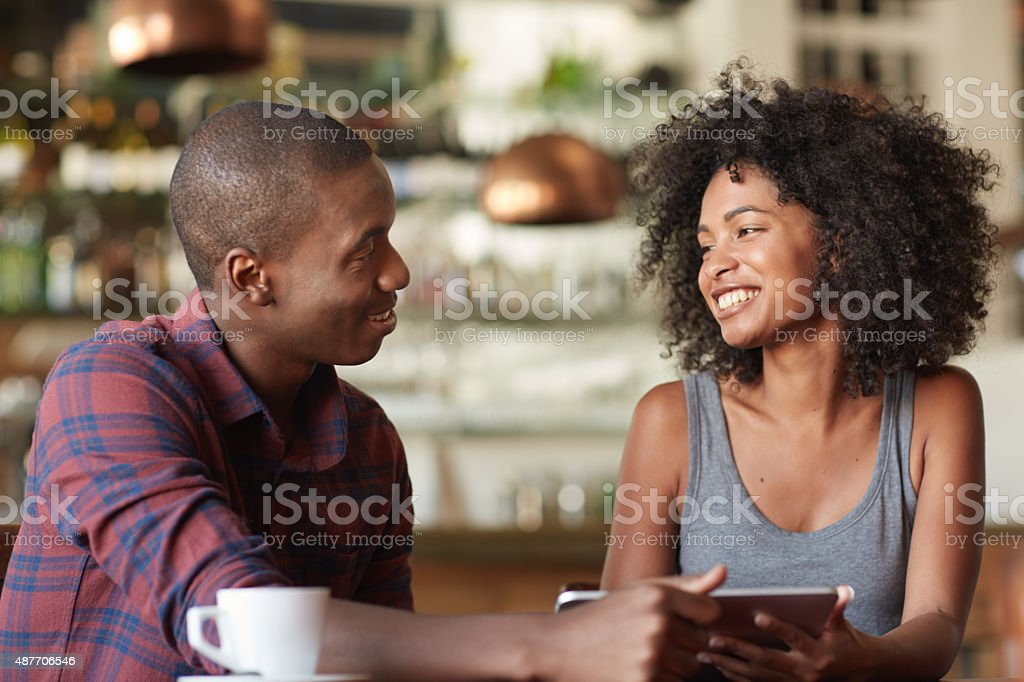 Getting to know each other stock photo