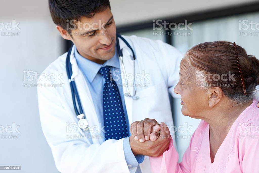 Getting to know his patient royalty-free stock photo