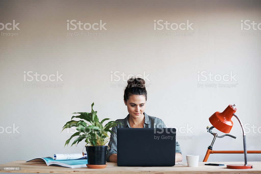 Getting to work on a new project royalty-free stock photo