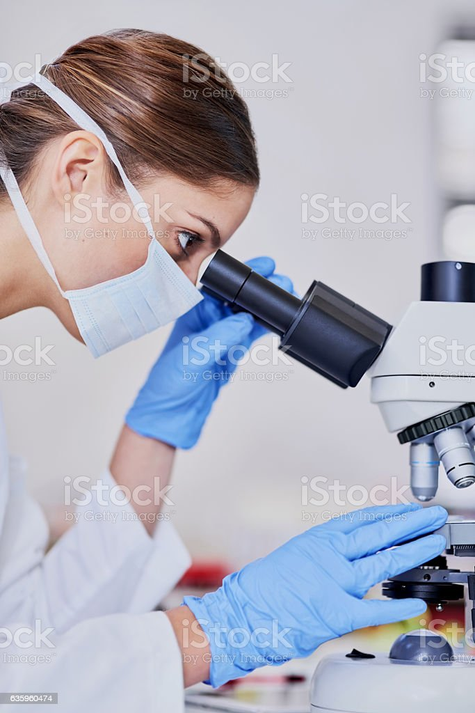 Getting up close with microbes stock photo