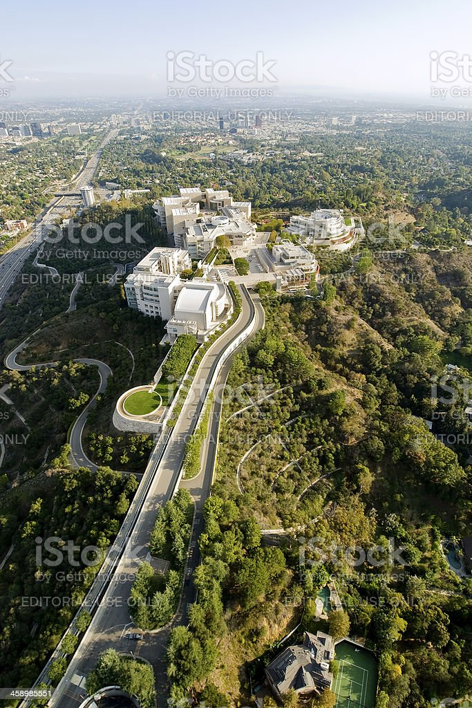 Getty Center in Los Angeles, California stock photo