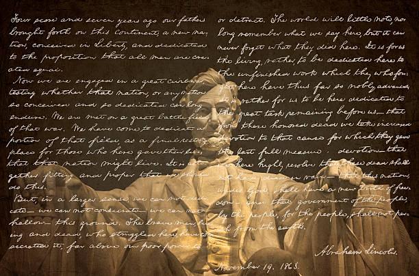 Gettysburg Address stock photo