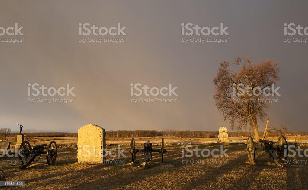 Gettysburg Angle stock photo
