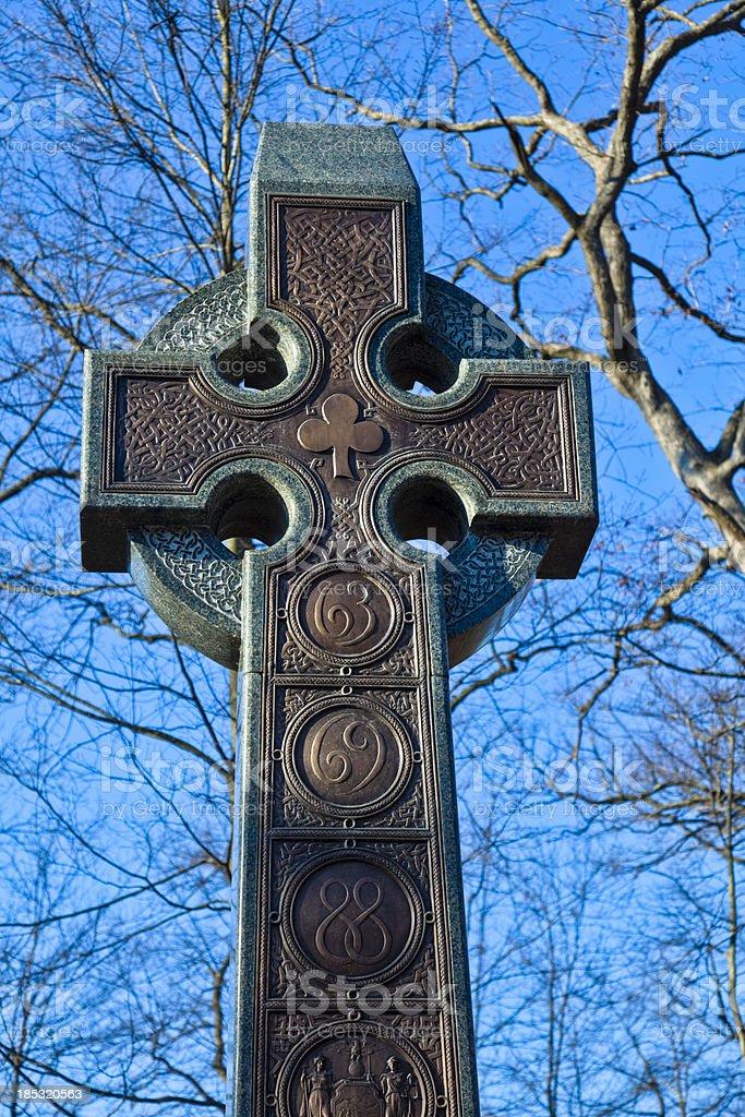 Gettysburg Battlefield - Celtic Cross of the Irish Brigade Monument royalty-free stock photo