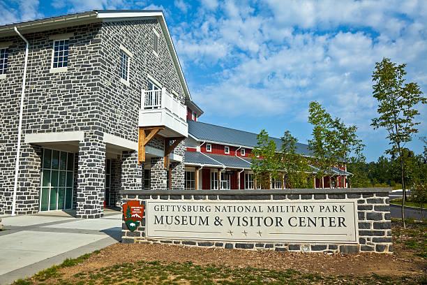 Gettysburg Battlefield Visitor Center stock photo