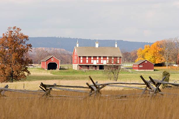 Gettysburg National Battlefield stock photo
