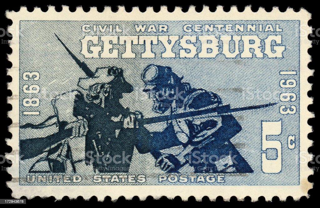 Gettysburg stamp stock photo