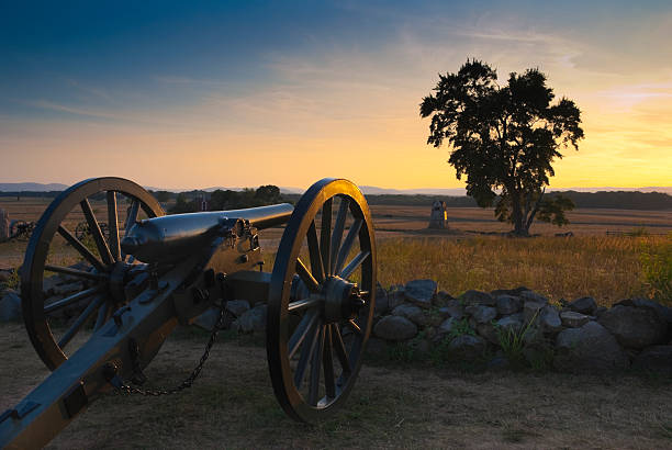 Gettysburg Sunset A cannon at the Gettysburg Battlefield at sunset. Picture taken at the