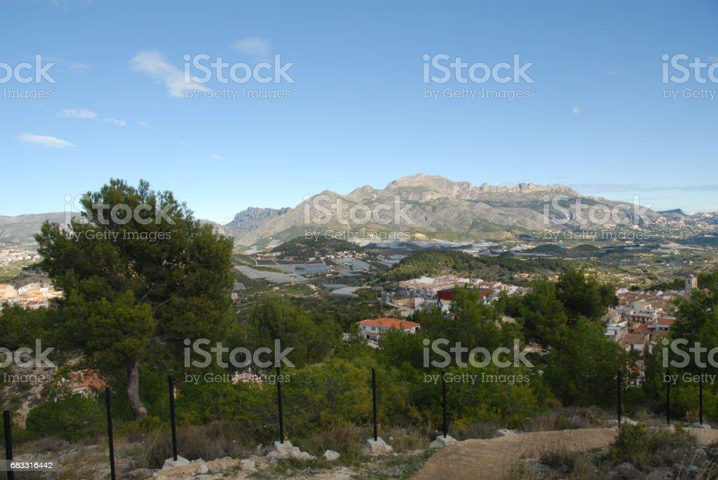 Gewächshaus / Gewächshäuser in Spanien royalty free stockfoto