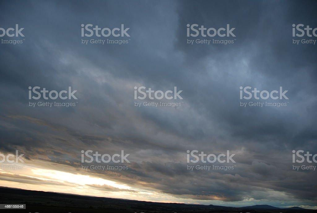 Gewitterfront stock photo