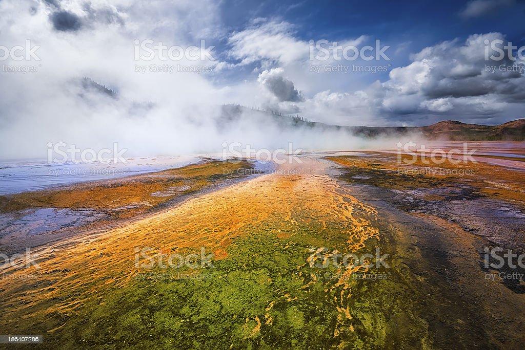 Geyser Basin, Yellowstone National Park, Wyoming stock photo