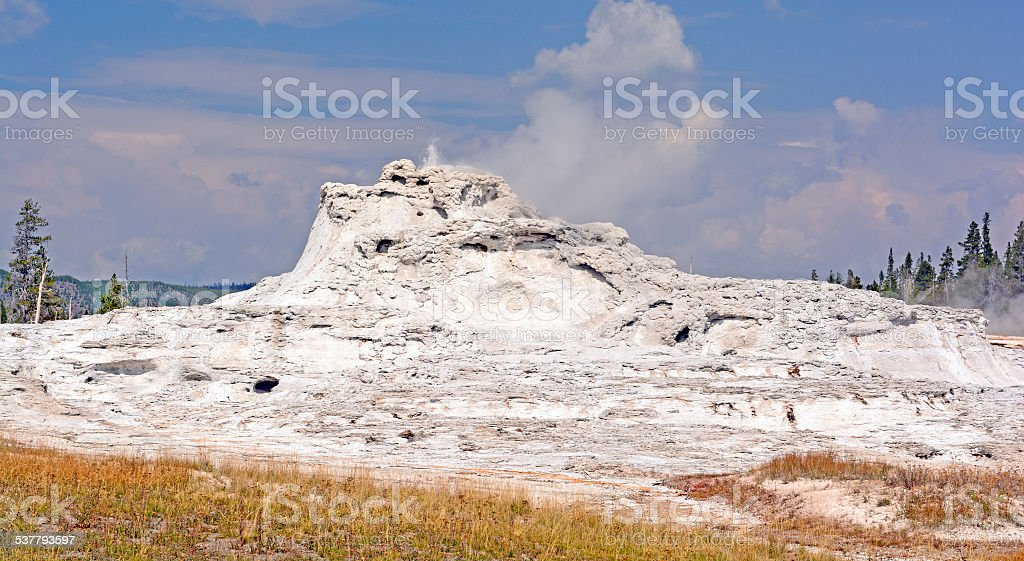 Geyser Cone on a Sunny Day stock photo