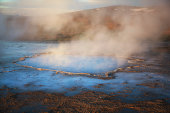 A small geyser in Iceland