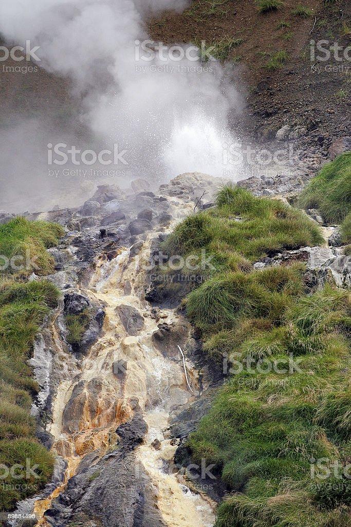 Geyser in Kamchatka Mountains royalty-free stock photo