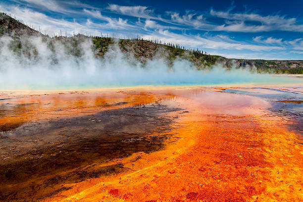 Geyser stock photo