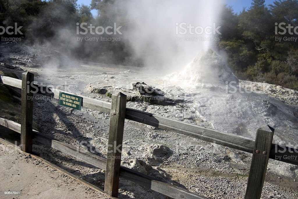 Geyser royalty-free stock photo