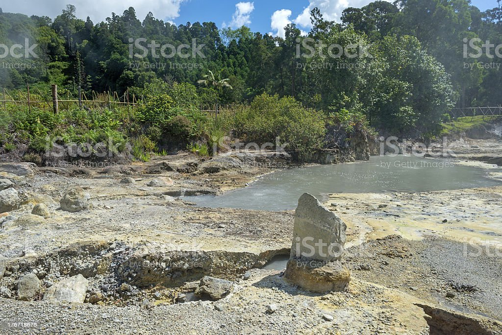 Geysers and hotsprings in the Azores royalty-free stock photo
