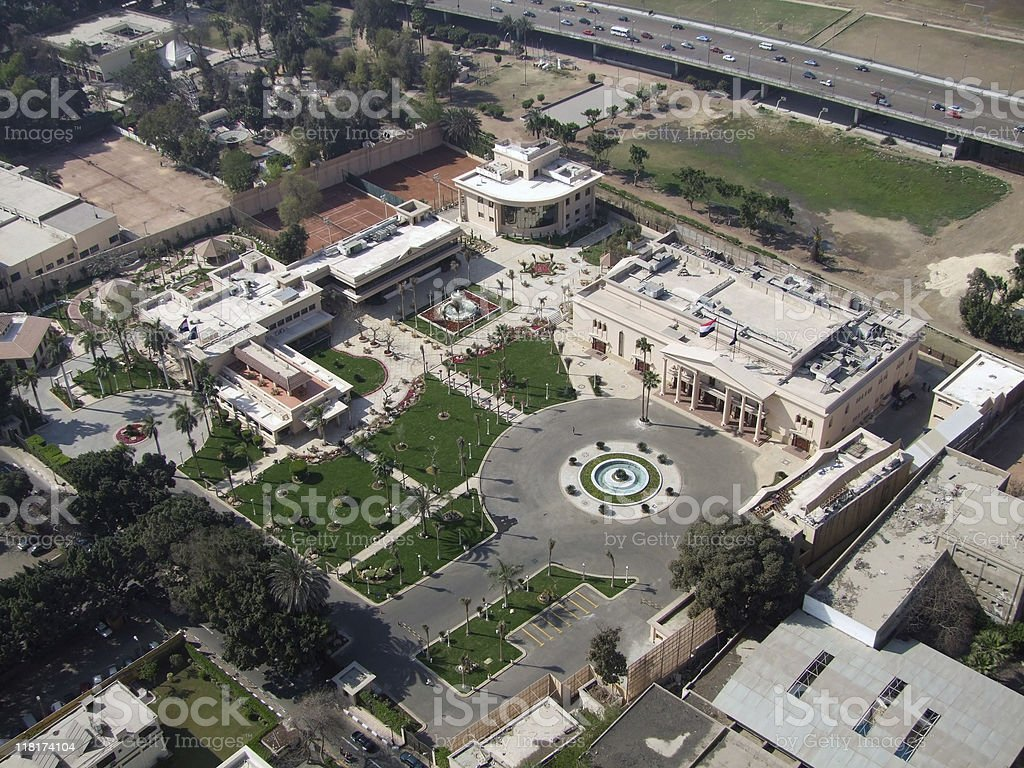 Gezira aerial view in sunny ambiance stock photo