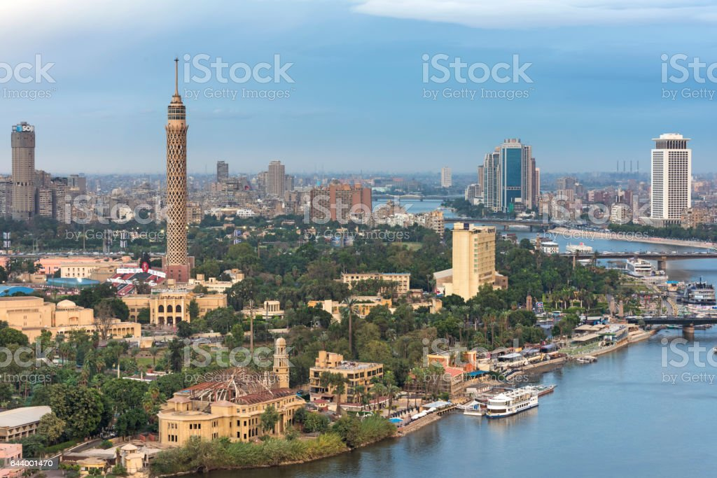 Gezira Island stock photo