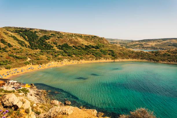 Ghajn Tuffieha Bay sandigen Strand, Mellieha, Malta – Foto