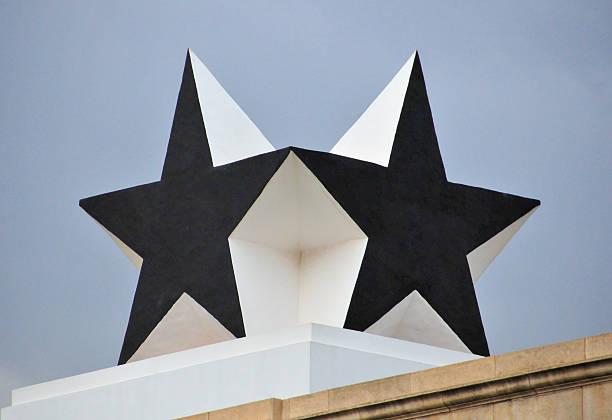 ghana, accra, independence arch, black star - black power 個照片及圖片檔