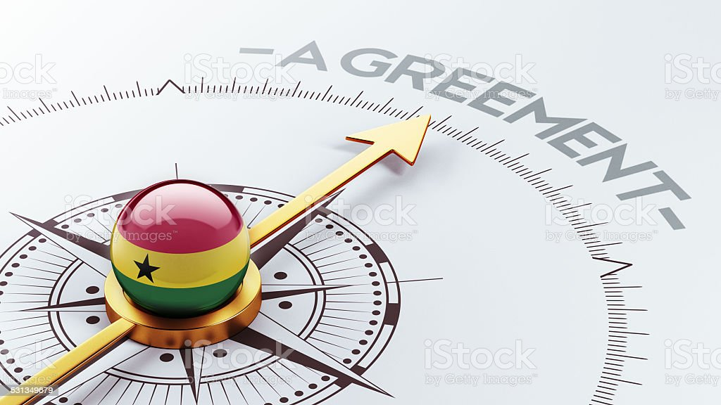 Ghana Agreement Concept stock photo