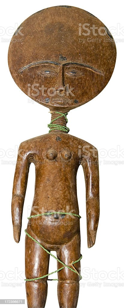 Ghana: Akuaba Ritual Figurine in Traditional Form royalty-free stock photo
