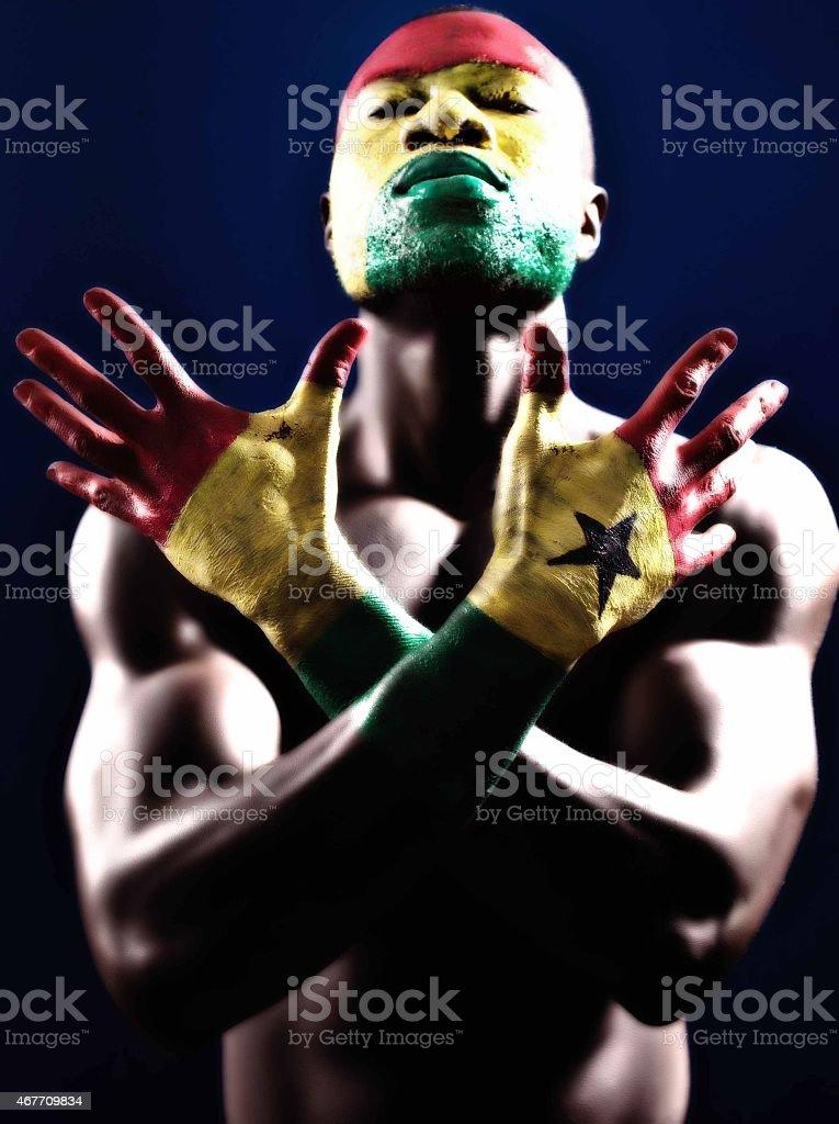 Ghana Body Painted stock photo
