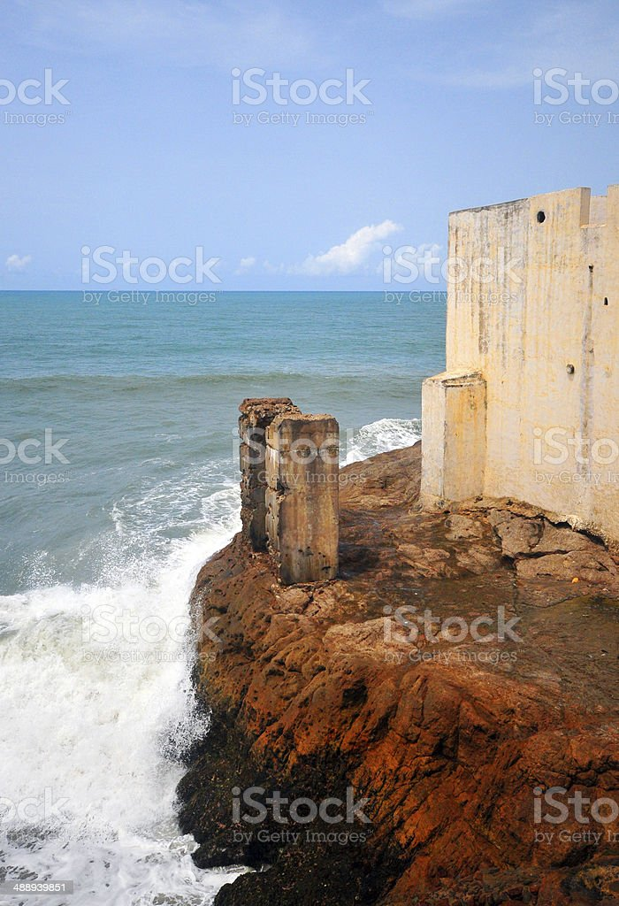 Ghana, Cape Coast Castle - south bastion royalty-free stock photo