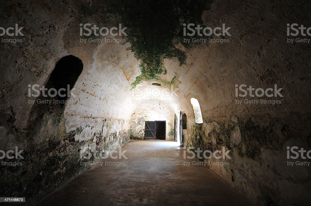 Ghana: Elmina Castle World Heritage Site, Slave Hold stock photo