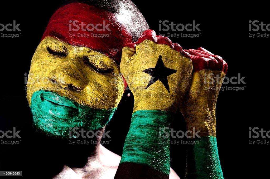 Ghana Face Painted stock photo