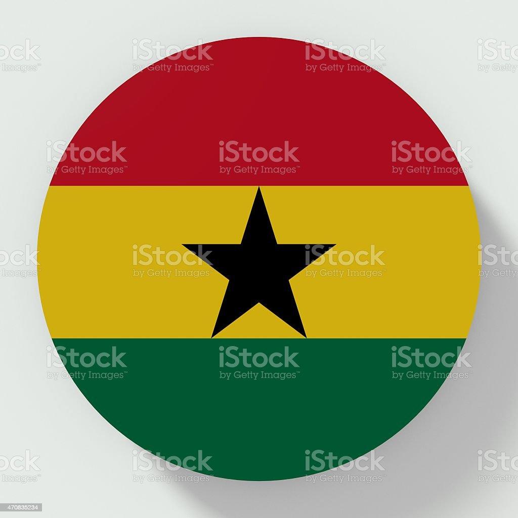 Ghana flag button stock photo