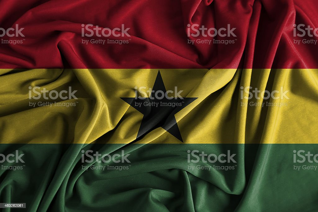 Ghana Flag stock photo